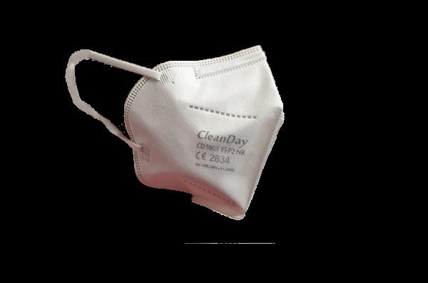 CleanDay CD1003 FFP2 Mundschutz Masken mit Ohrschutzclips - CE 2834