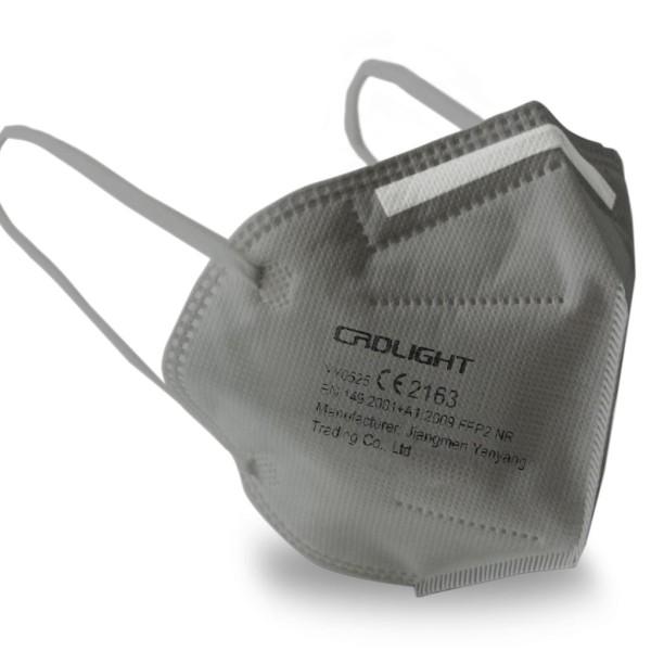 Crdlight FFP2 Atemschutzmaske grau - CE 2163